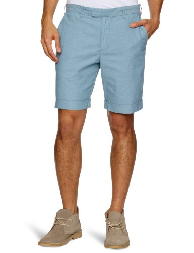 Original Penguin Oxford Cuffed Men's Shorts Aegean Blue W32 IN