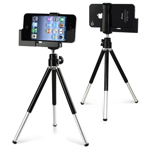 eForCity FLY Mini Tripod Stand with Holder Compatible with ALL iPhone® 3G 4 4G