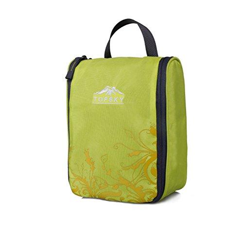 sac de lavage de Voyage extérieur / sac à cosmétiques fournitures essentielles / admission forfait de voyage-jaune