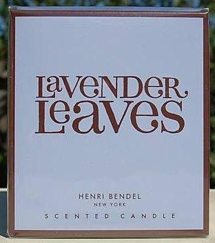Henri Bendel Lavender Leaves Scented Candle In Glass Jar