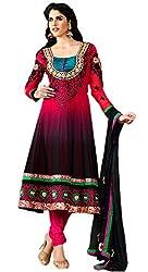 Luxerium Women'S Georgette Multi-Colour Unstiched Dress Material