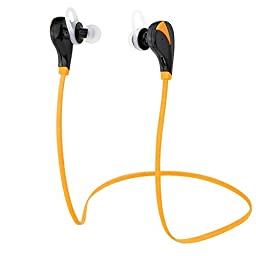 eCandy 2852041 Bluetooth Noise Cancelling Headphone, Orange