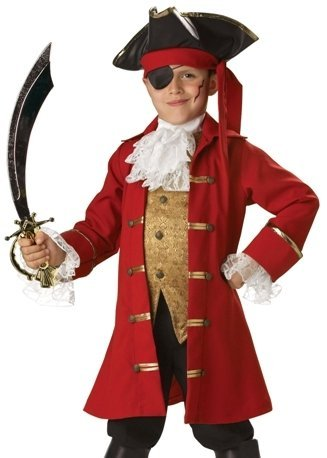 Big Boys' Pirate Captain Costume Size 8 front-713070