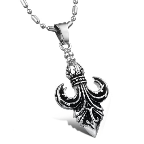 Opk Jewellery Necklace Fashion Stainless Steel Royal Noble Knights Powerful Pendant Necklets For Men's Neckwear