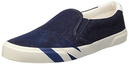 Bikkembergs Rubb-Er 691 Slip On W Denim/Leather, Scarpe Low-Top Donna, Blu (Blue/White), 38 EU