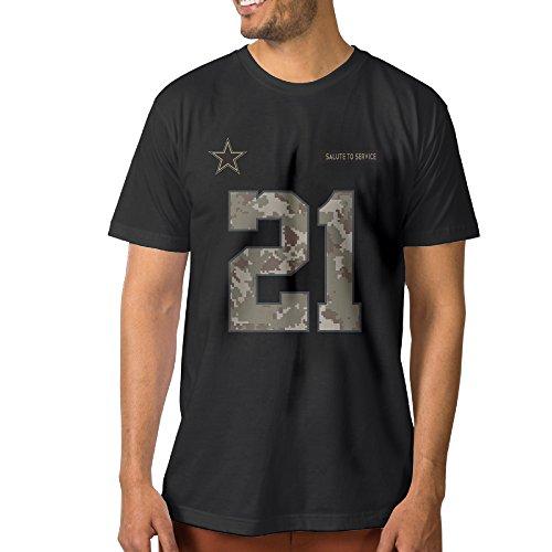 Men's Ezekiel Elliott Dallas Cowboys Salute To Service T Shirt (Marshall Service Shirt compare prices)