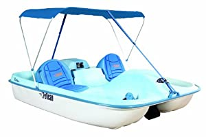 Buy Pelican Rainbow E-Deluxe Pedal Boat, Fade Blue White by Pelican
