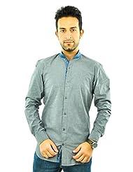 Feed Grey Smart Band Collar Shirt