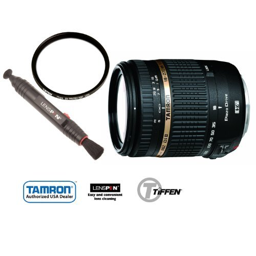 Tamron Af 18-270Mm F/3.5-6.3 Di Ii Vc Pzd Ld Aspherical If Macro Zoom Lens For Canon Dslr Cameras With Tiffen 62Mm Uv Protector And Lenspen Lp-1