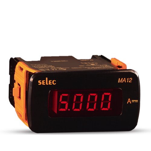 Selec Ma12-50Mv-Dc-110V-Cu Digital Ammeter, 48Mm X 96Mm Size, 4 Digit Led Display, Ul Approved, Shunt Type, 0 To 50Mv, 110Vac