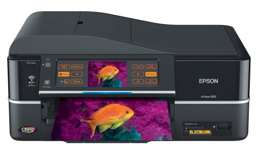 best prices on epson artisan 800 wireless photo all in one printer black c11ca29201 free. Black Bedroom Furniture Sets. Home Design Ideas
