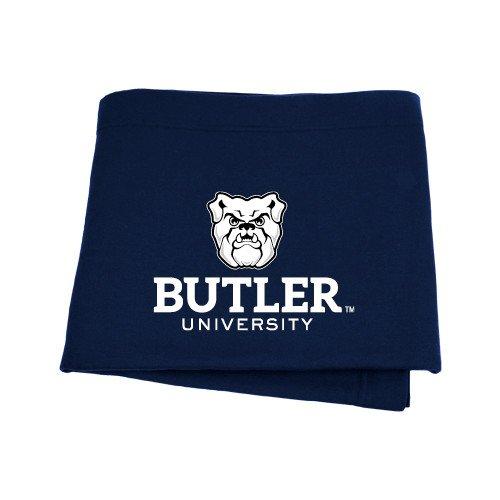 Butler Navy Sweatshirt Blanket 'Butler University Stacked Bulldog Head' (Butler Bulldogs Sweatshirt compare prices)