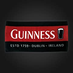 Guinness Red Black Pint Bar Towel