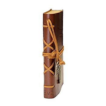 EvZ Diary String Key Leather Bound Notebook, Brown