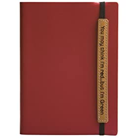 41CpOydDPKL. SL500 AA280  Go Green! Eco Friendly Recycled Leather Lined Diary / Journal, Red, 5x7