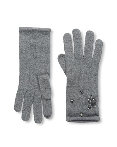 Portolano Women's Cashmere Glove, Medium Heather Grey