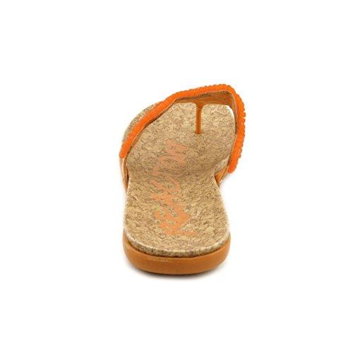 Kenneth Cole REACTION Women's Glam Stud SO Thong Sandal,Mango,6.5 M US