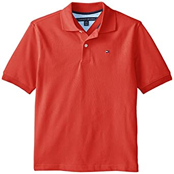 Tommy Hilfiger Big Boys' Ivy Polo- Hol, Bleached Red, Small