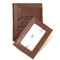 New Mens Leather Creditcard Wallet Plus Mini Wallet Purse J342