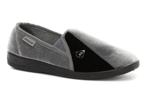 Cheap Dunlop Duncan Grey Mens Slippers (B005PN72E4)