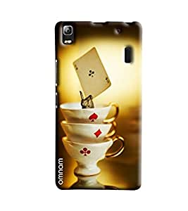 Omnam Three Cups Of Cards Game Printed Designer Back Cover Case For Lenovo A7000