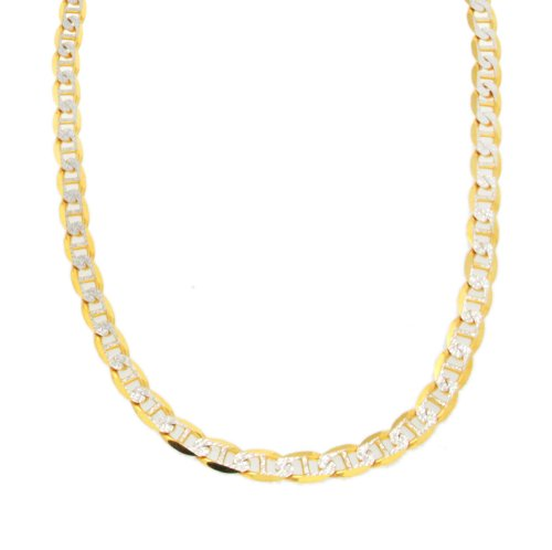 9ct 2 Color Gold Rambo Chain 20 Inch