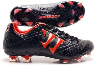 Skreamer Combat FG Kids Football Boots Black/Spicy Orange