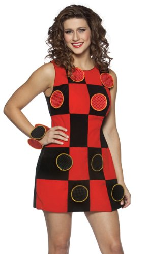 Rasta Imposta Checkers Board Game Dress Funny Adult Halloween Costume