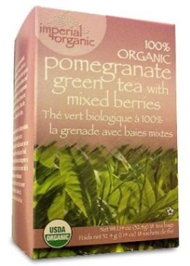Organic Pomegranate Green Tea With Mix Berries-18 Bags Brand: Uncle Lees Tea