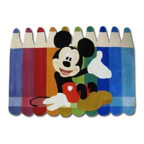 Kinderteppich Disney Mickey Mouse Buntstifte 168x115cm