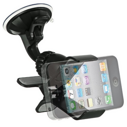 Importer520 Clipper Car Mount Universal Vehicle Swivel Holder For Samsung Galaxy Note 4 3 2 Galaxy S5 ACTIVE S4 ACTIVE S3 MINI ; Apple iPhone 4 5 5S 5C 6 6 Plus 4.7 5.5 ; LG Optimus G3 G2,G Flex,G Pro 2 HTC One M8/ACE M7 M4,Mini 2