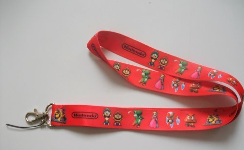 Super Mario Red Color Key Chain Holder Lanyard ~Nintendo~ by MGifts