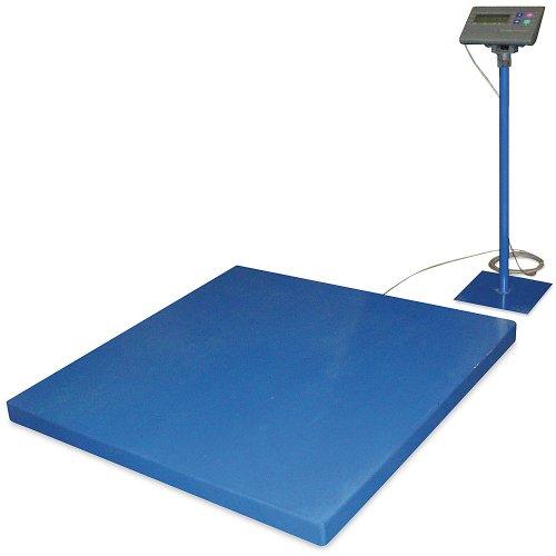 """Vestil Scale-S-Cft-55-10K Steel Digital Floor Scale, Uniform Capacity 10000 Lb, Ntep 60"""" X 60"""" X 4"""", Painted Blue"""