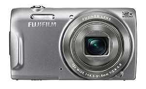 Fujifilm FinePix T500 Digitalkamera (16,2 Megapixel, 12-fach opt. Zoom, 6,9 cm (2,7 Zoll) LCD CCD Sensor, bildstabilisiert, USB 2.0) silber