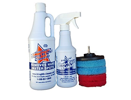 Water Spot Remover Water Stain Remover and Sealant Kit Plus Drill Pads, Clean Tile and Grout (Handheld Premium Pet Turbo Brush compare prices)
