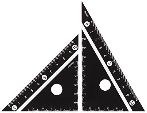 レイメイ藤井 定規 見やすい白黒 三角定規 黒 10cm APJ251B