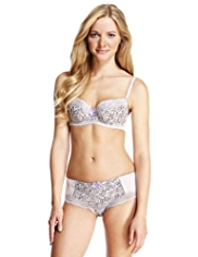 Limited Collection Frosted Faux Snakeskin Print Padded Balcony A-DD Bra