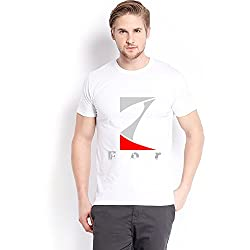 Trendster Z Letter Printed Cotton White T Shirt