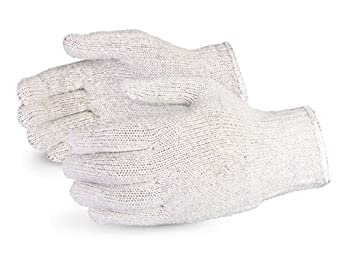 Superior SQG SureKnit Cotton/Polyester Economy String Knit Glove, Work, 7 Gauge Thickness, Medium, Gray (Pack of 1 Dozen)