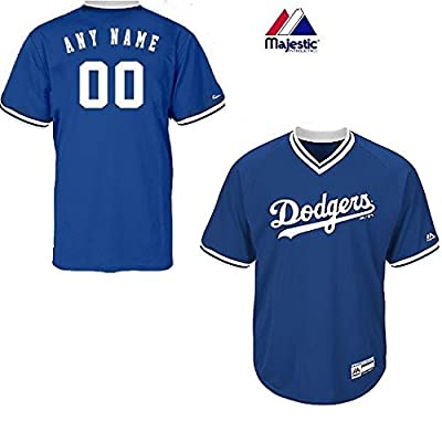 New V-Neck Los Angeles Dodgers CUSTOM (Name/# on Back) or Blank Back MLB On Field Cool-base Pro Length Full Athletic Cut Uniform Jersey