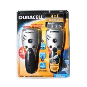 Duracell 3In1 Crank Light (Flash, Radio, Charger)-2 Pks