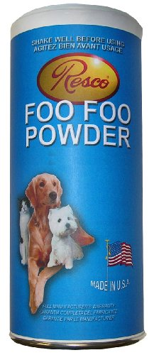Resco Foo Foo Powder 2-1/2 Inches Diameter by 6 Inches Tall White