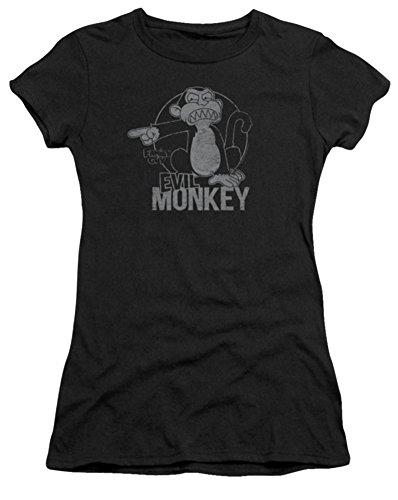Family Guy Evil Monkey Ladies Junior Fit T-Shirt