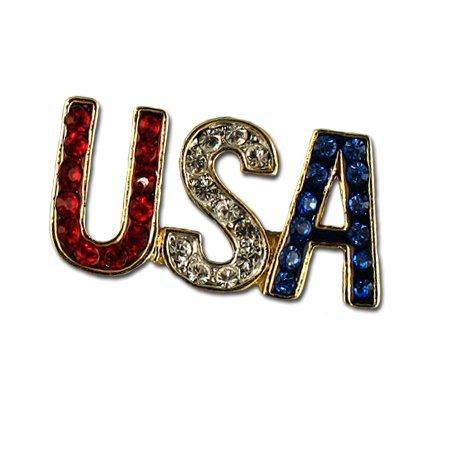 Crystal USA Pin