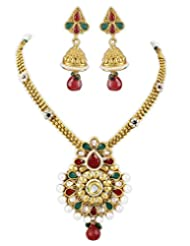Karatcart 22K Goldplated Traditional Jewellery Set For Women - B016KM1PBY
