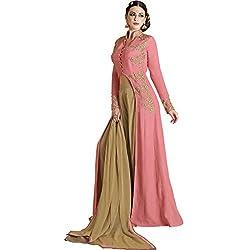 Vasu Saree Distinguishable Pink Georgette Trendy Salwar Kameez