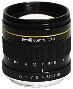 Opteka 85mm f/1.8 Manual Focus Aspherical Medium Telephoto Lens for Canon EOS 60D, 60Da, 50D, 40D, 7D, 6D, 5D, 1Ds, 1D, Digital Rebel T1i, T2i, T2, XSi, XS, XTi, XT, T3, T3i and T4i Digital SLR Cameras