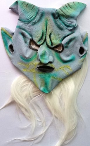 2012 Happy Halloween Holiday Upscale Hair Sheep Mask For Adult Men And Women back-1080132