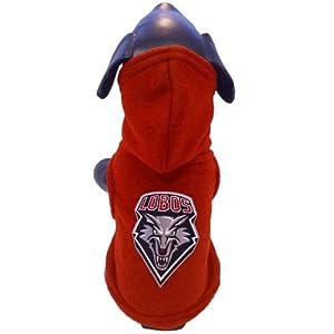 NCAA New Mexico Lobos Polar Fleece Hooded Dog Jacket, Small by All Star Dogs