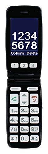 Premium Großtasten Senioren Handy - Klapphandy ohne Vertrag - beleuchtete Tasten - SOS Notruf - Bluetooth Kamera FM-Radio